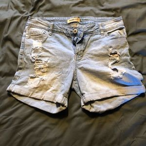 Blue Spice Distressed Shorts Size 11
